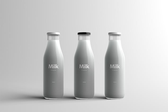 Thumbnail for Milk Bottle Packaging Mock-Up