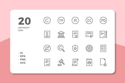 20 Copyright-Icons (Zeile)