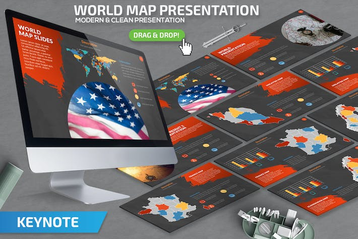 Thumbnail for World Map Keynote