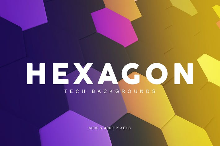 Thumbnail for Hexagon Tech Backgrounds