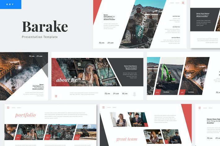 Thumbnail for Barake - Coal Mining Keynote Presentation Template