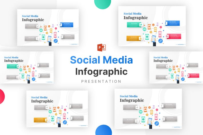 Thumbnail for Hand Holding Social Media Icons Factor Infographic