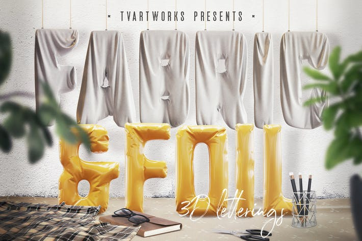 Thumbnail for Foil & Fabric Lettering Duo