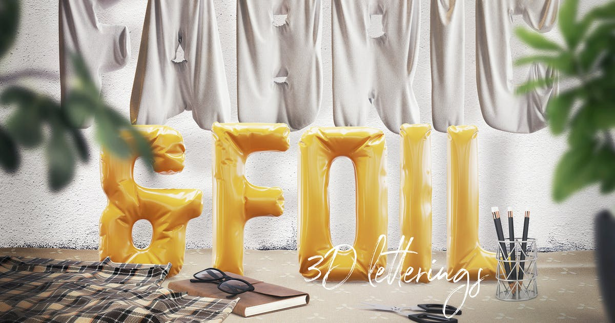 Download Foil & Fabric Lettering Duo by cruzine