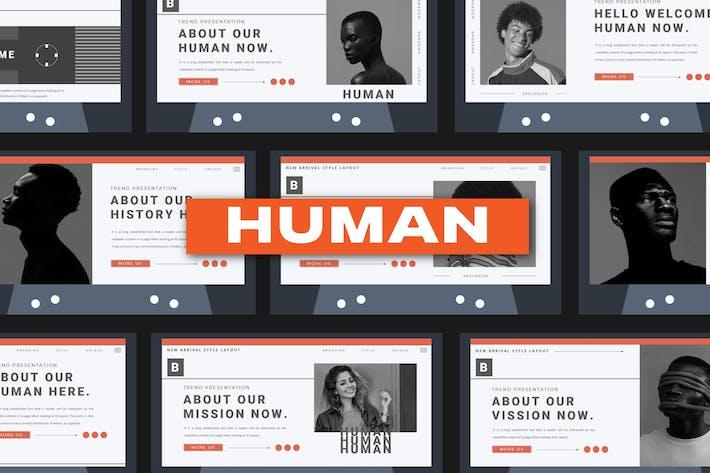 HUMAN Powerpoint Template