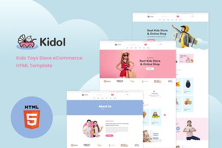Kidol - Kids Toys Store eCommerce HTML Template