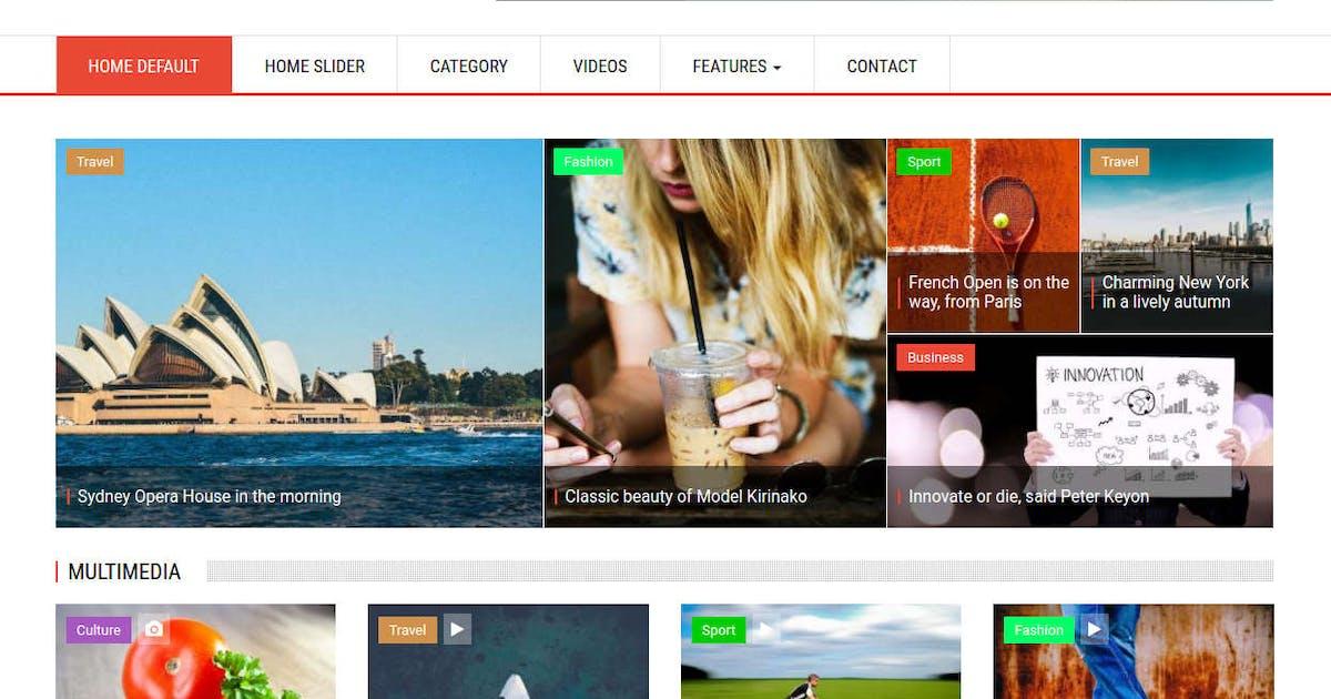 Download SymNews - News & Magazine Drupal 8 Theme by symphonythemes