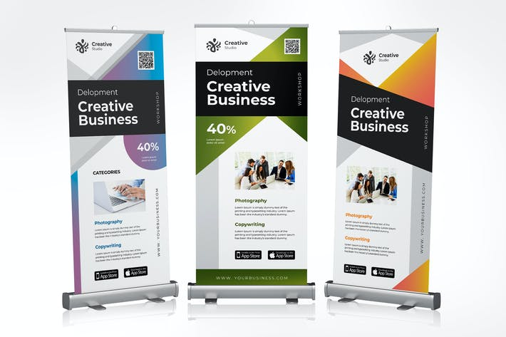 Thumbnail for Roll Up Banner Creative Business Promotion