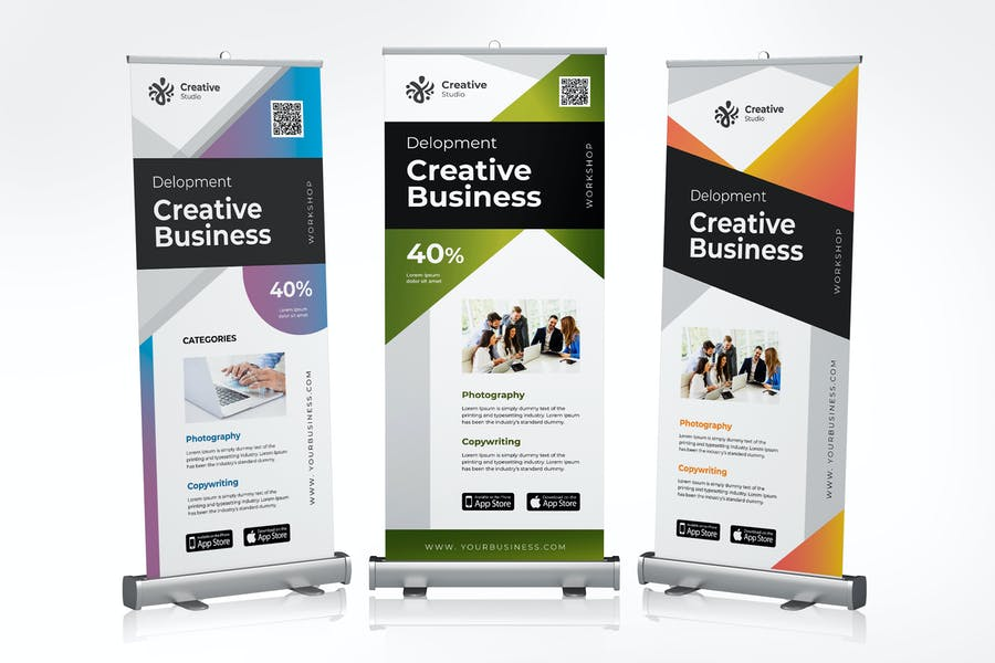 Roll Up Banner Creative Business Promotion