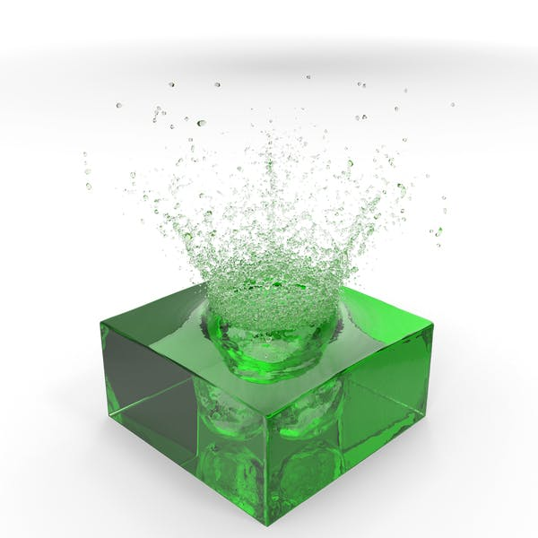Зеленый всплеск воды