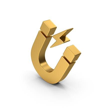 Symbol Magnet Gold