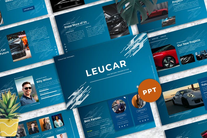Leucar - Car PowerPoint Template