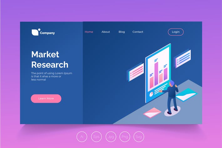 Thumbnail for Isometric Landing Page vol.14