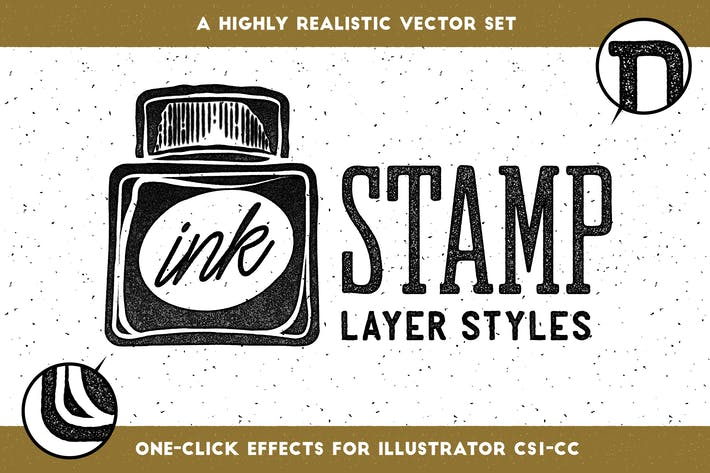 Thumbnail for Ink Stamp Layer Styles