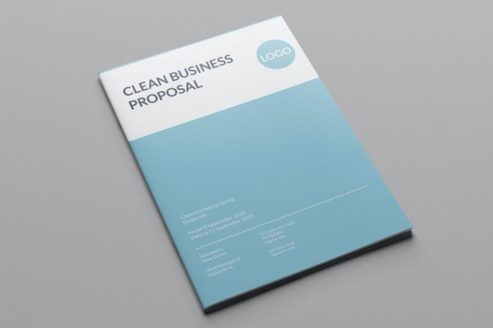 Thumbnail for Clean Business Proposal