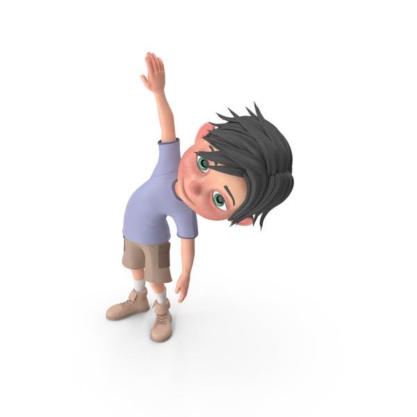 Cartoon Junge Jack Doing Aerobic