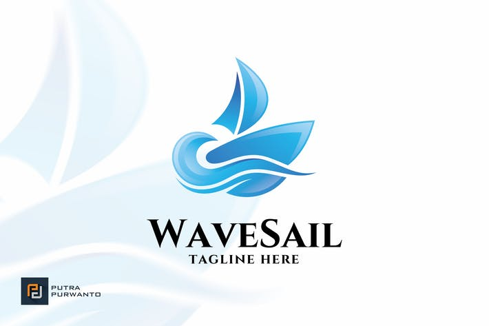 Thumbnail for Wave Sail - Logo Template