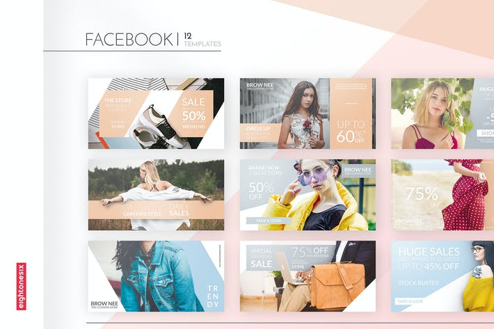 Thumbnail for Fashion Pastel Elegant Facebook Ad Template
