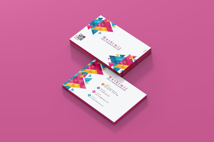 Thumbnail for Colorful Business Card Template