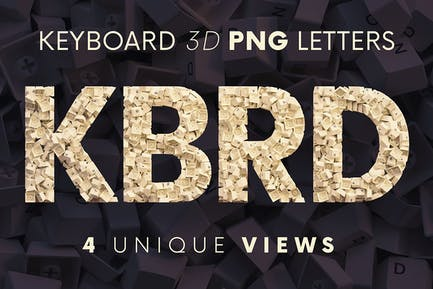 Keyboard - 3D Lettering