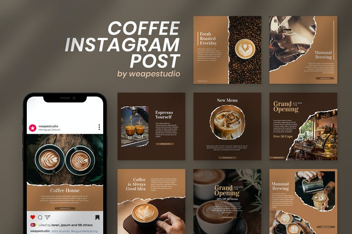 Thumbnail for Coffee Instagram Post