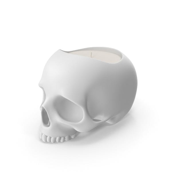 Skull Head Candle