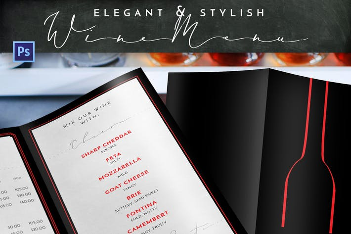 Thumbnail for Elegant Stylish Wine Menu