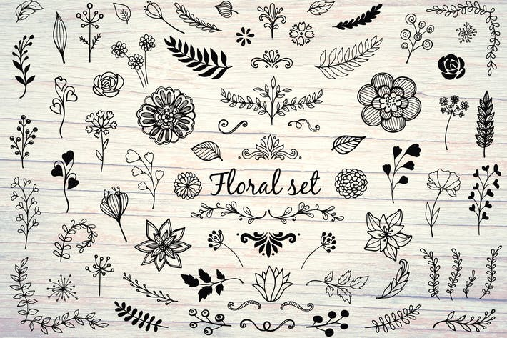 Thumbnail for Hand Drawn Floral Elements