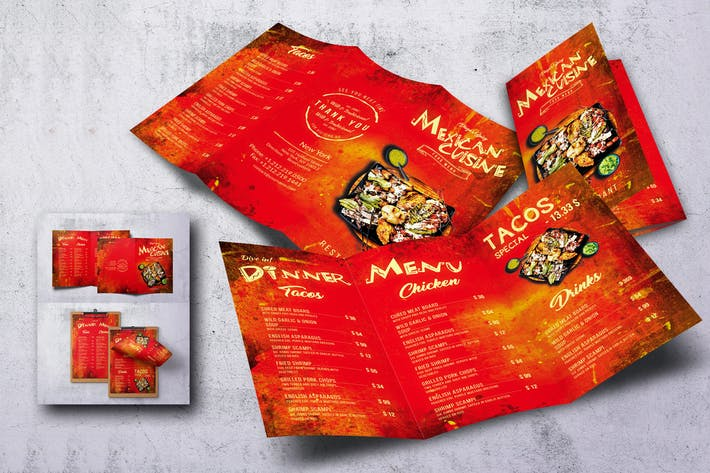 Thumbnail for Mexican Cuisine Food Menu Bundle