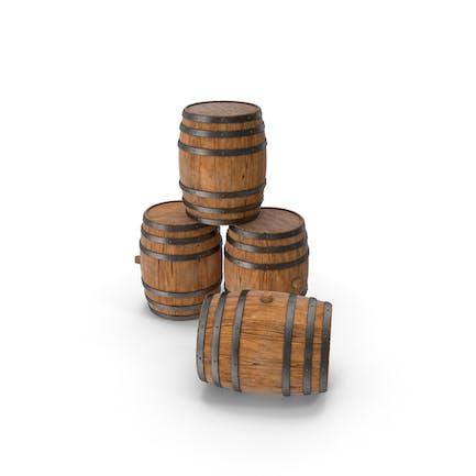 Деревянные бочки Корабль Корпус