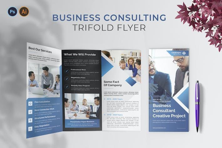 Thumbnail for Business Consulting – Trifold Brochure