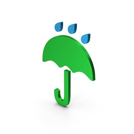 Símbolo de lluvia paraguas