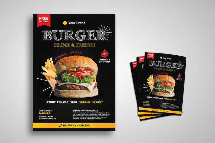 Cover Image For Burger Restaurant Promo Flyer