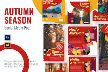 Ändern Sie die sozialen Medien im Herbst