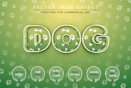 Dog - редактируемый текстовый эффект, стиль шрифта
