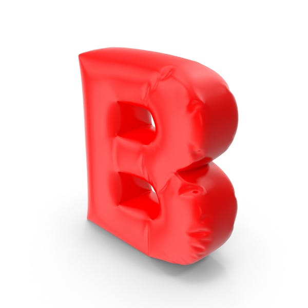 Ballonbuchstabe B
