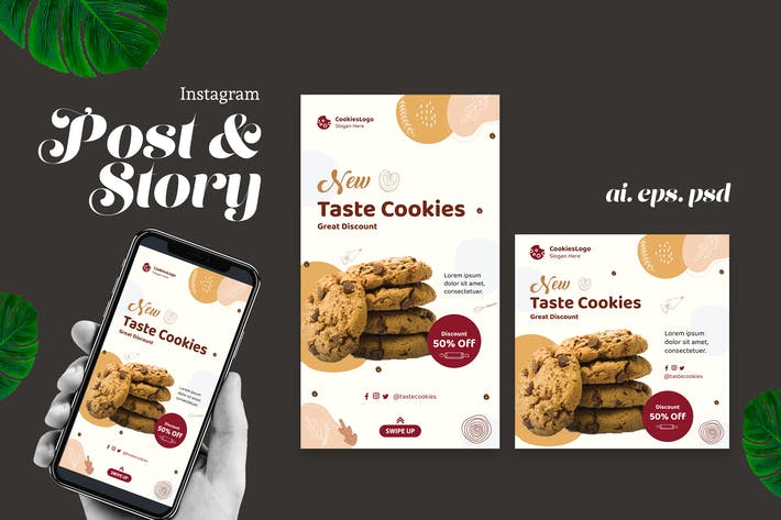 Thumbnail for Cookies Instagram Post Story
