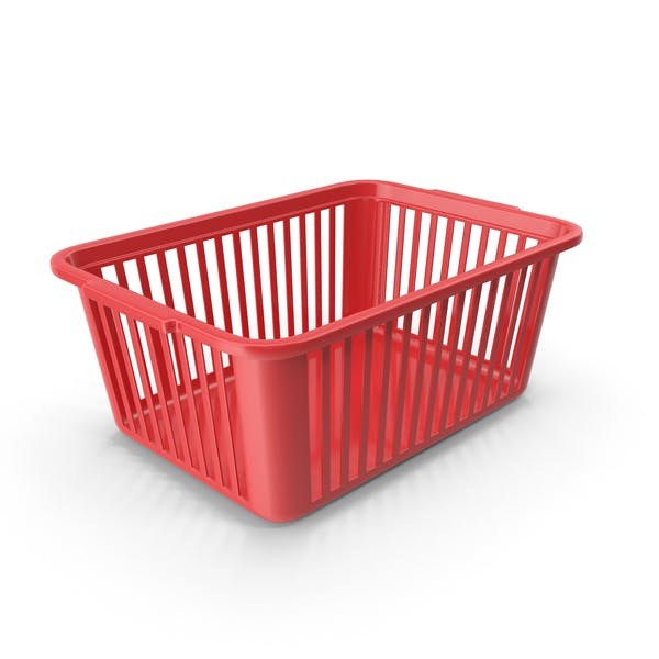 Thumbnail for Kunststoff Handlicher Korb Rot