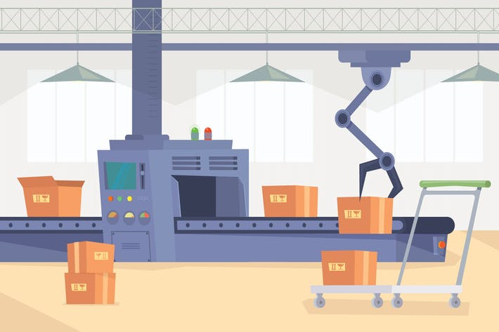 Thumbnail for Production Line - Illustration Background