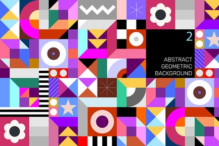 Abstract Geometric Tileable Vector Background