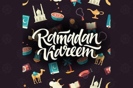 Ramadan Kareem - motif sans couture