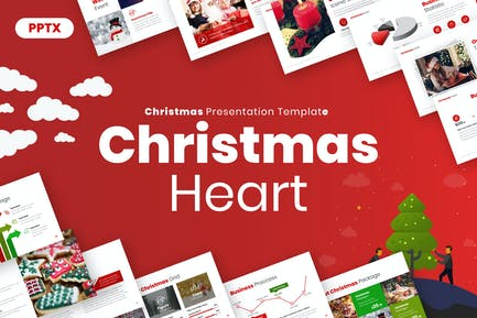 Christmas Heart Powerpoint Presentation Template