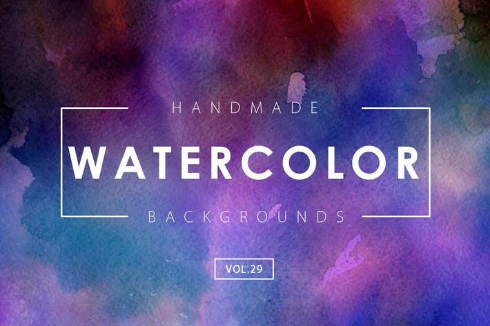 Thumbnail for Handmade Watercolor Backgrounds Vol.29
