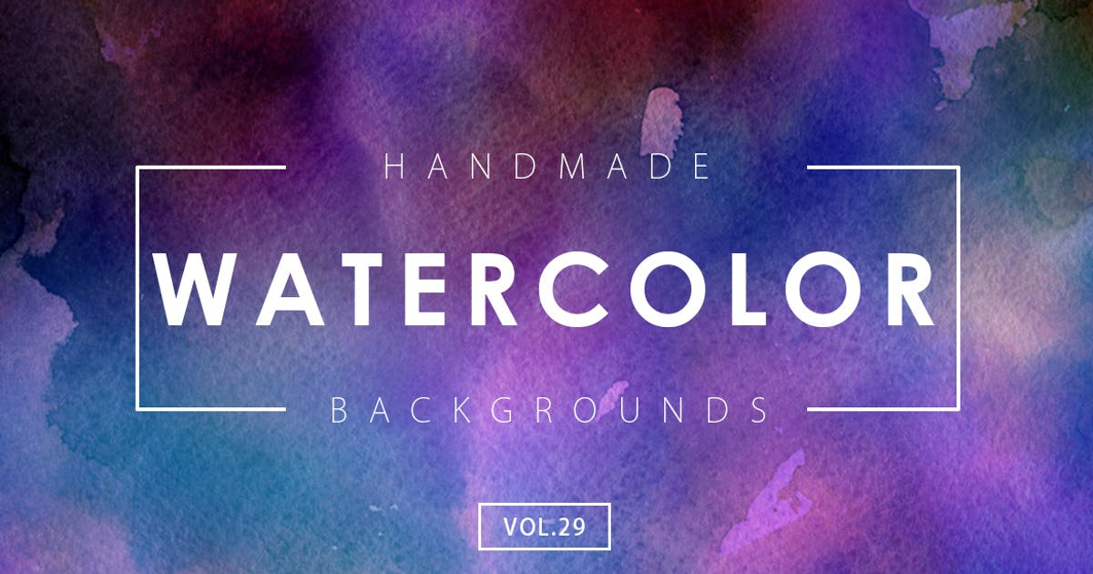 Handmade Watercolor Backgrounds Vol.29 by M-e-f