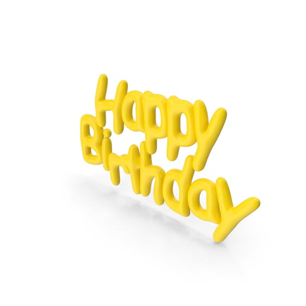 Thumbnail for Symbol Yellow Happy Birthday