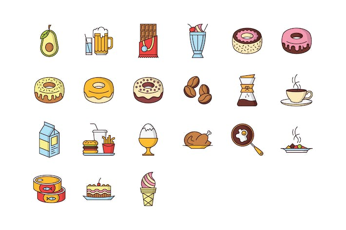 Thumbnail for 21 Food & Drink Icons