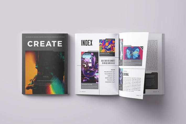 Thumbnail for Create Magazine Template