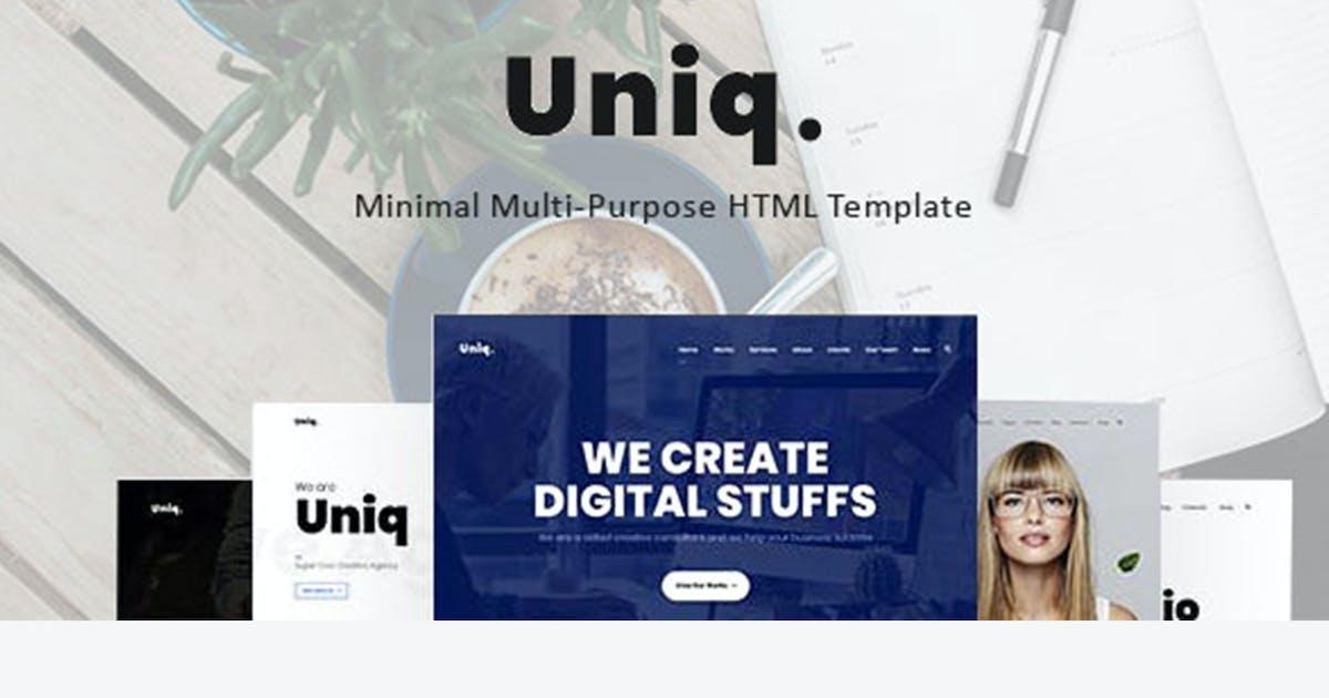 Download Uniq - Minimal Multipurpose Creative HTML Template by max-themes