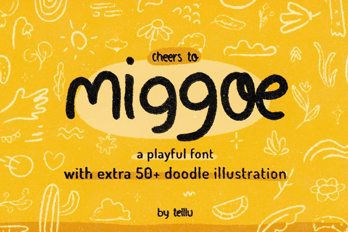 Miggoe - Playful Font with Extra Doodles
