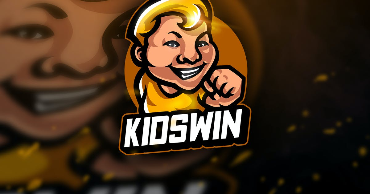 Kidswin - Mascot & Esport Logo by aqrstudio